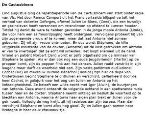 De Cactusbloem- Verslag